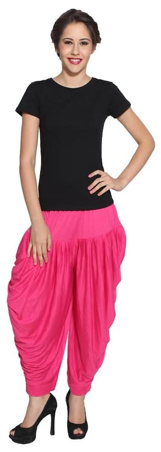 Pietra Dark Pink colored Pan Style Dhoti (Pack of 3)