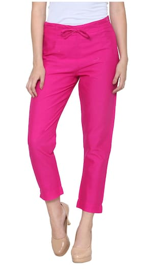 Pink Casual Trouser for woman