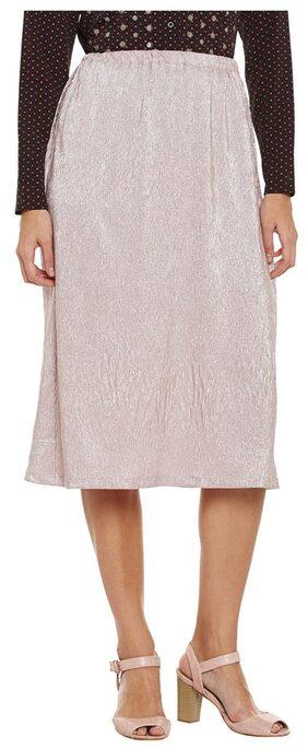 Pink Midi Foil Skirt