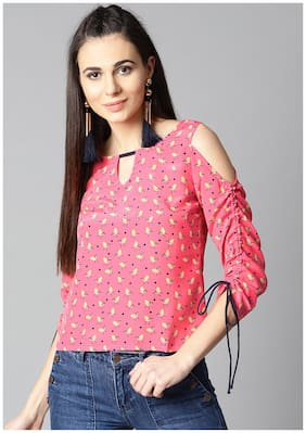 Women Printed Keyhole Top ,Pack Of 1