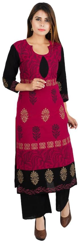 Women Ethnic Motifs Straight Kurta ,Pack Of 1