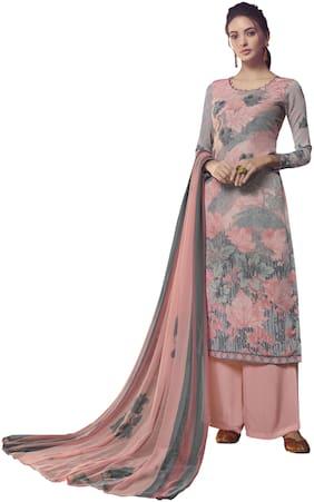 Vishwam Pink Unstitched Kurta with bottom & dupatta With dupatta Dress Material
