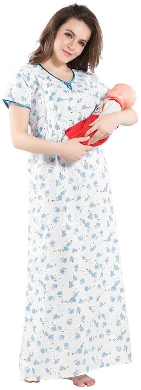 PIU Women Maternity Dress - Blue M