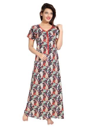 e1639745fe Buy PIU Cotton Night Gown Printed Nightwear Multi - (Pack of 1 ...