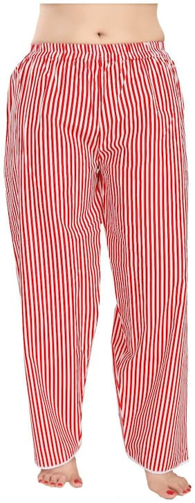 Piu Women's Casual Striped Cotton Pajamas