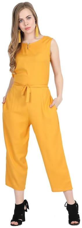 pkyenterprises Solid Jumpsuit - Yellow