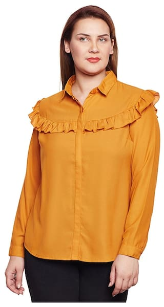 Plus Size Ruffle Shirt