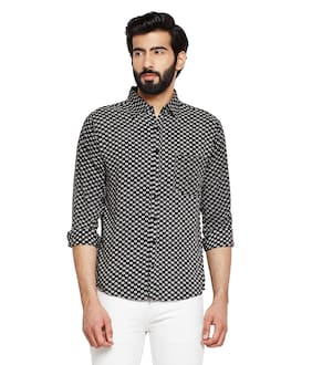 OXOLLOXO Men Regular Fit Casual shirt - Black