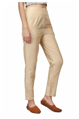 silk fitted Poly fitted Pants Poly silk SS5wdqr