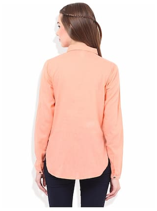 Women's PORSORTE Peach PORSORTE Women's Shirt Cotton Women's Cotton Peach PORSORTE Shirt Cotton RAcSZ
