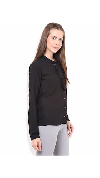 Front Formal PORSORTE Black Tie Women's Knot Shirt qtqwTB