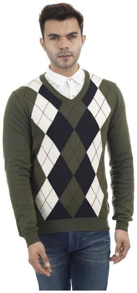 Portobello Men Green V neck Pullover