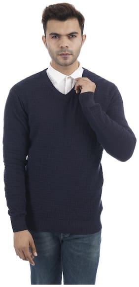 Portobello Men Blue V neck Pullover