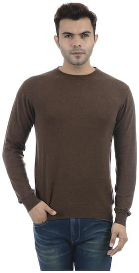 Portobello Men Brown Round neck Pullover