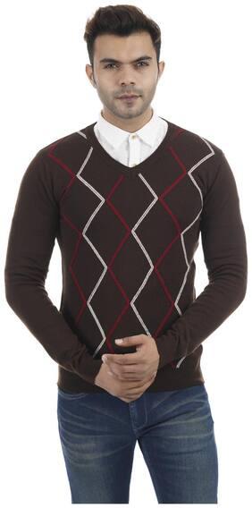 Portobello Men Brown V neck Pullover