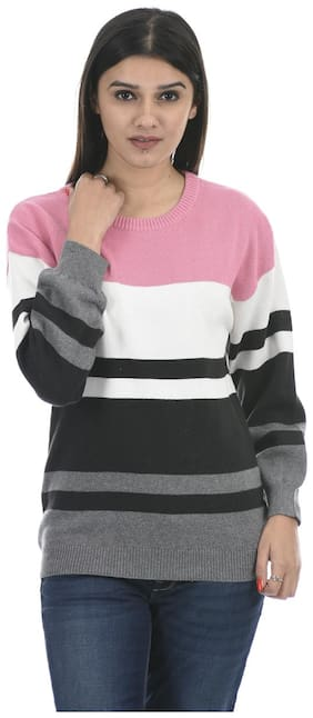 Portobello Women Striped Pullover - Multi
