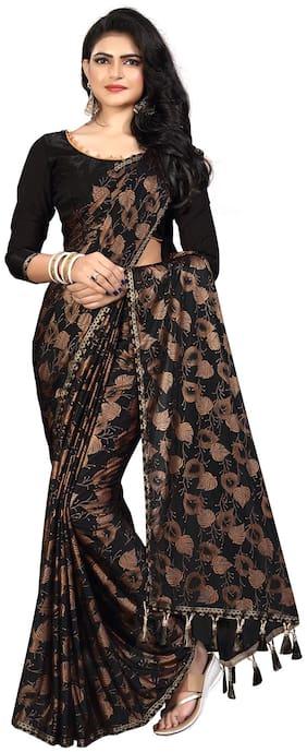 Pratham Blue Women Silk Woven Saree Brown
