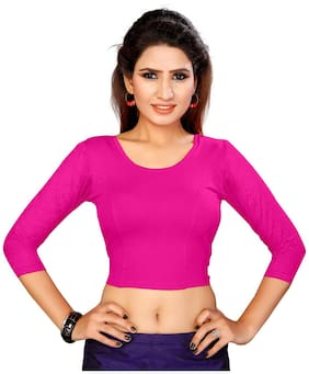 Pre Samrt women lycra stretchable readymade blouse Pink