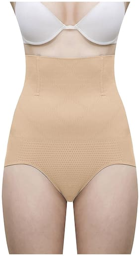 Goonchy Women Cotton & Spandex Tummy tucker panty - Beige
