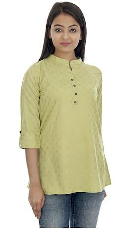 Club Fashion Women Printed Regular tunic - Green
