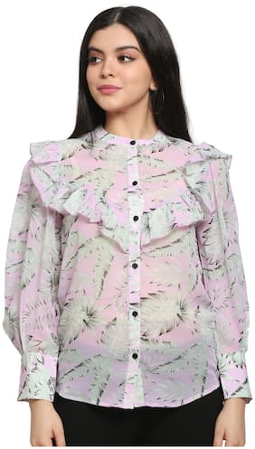 Pretty Loving Thing Women Pink Printed Regular Fit Shirt
