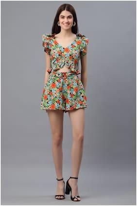 Pretty Loving Thing Black Printed Pattern Sleeveless Women 2 Piece Dress-Size XS