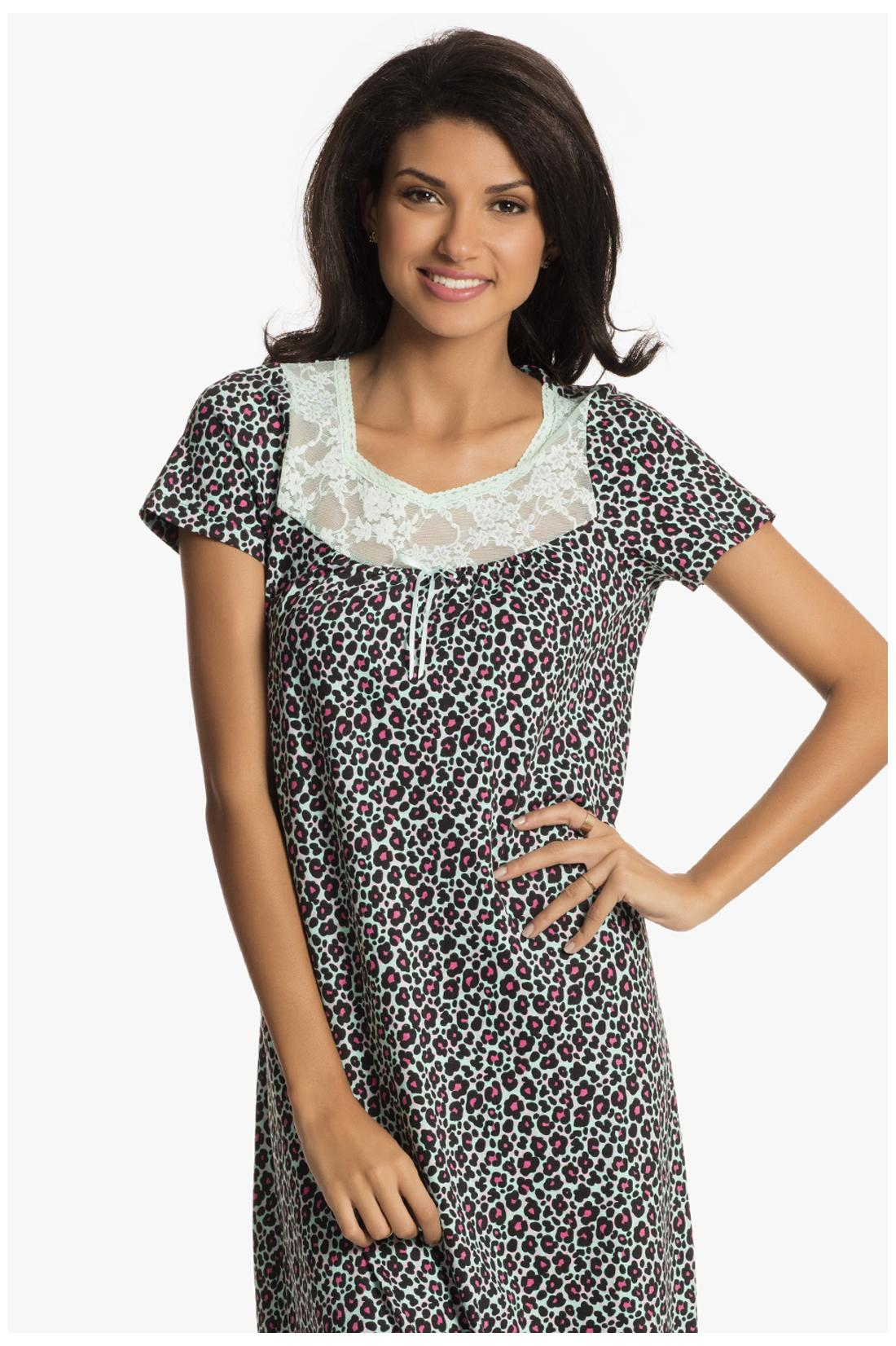 a478b48115 Buy Prettysecrets Wild Mint Print Play Long Nightdress-L Online at Low  Prices in India - Paytmmall.com