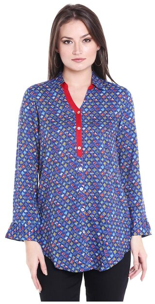 Globus Women Cotton Solid - A-line Top Multi