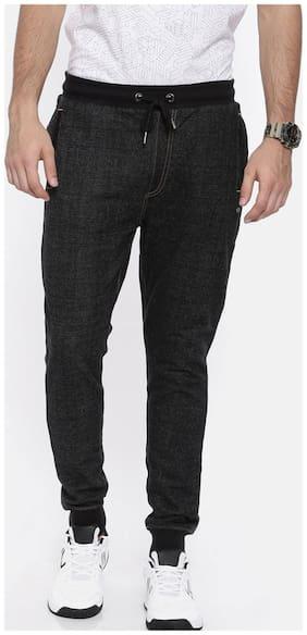 Proline Men Cotton blend Track Pants - Black