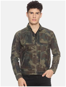 Prototype Men Multi Camouflage Biker jacket