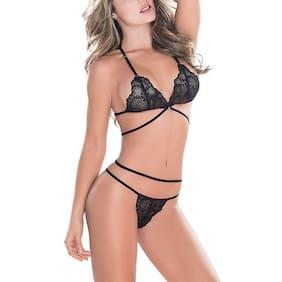 Psychovest Lace Backless bra - 2 Lingerie Set