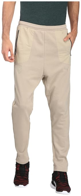 Puma Men Cotton Track Pants - Brown