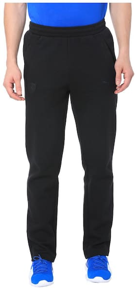 Slim Fit Poly Cotton Track Pants