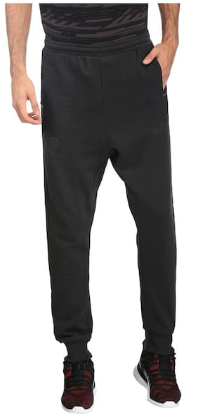 Puma Men Cotton Track Pants - Black