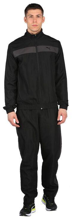 Puma Men Cotton Blend Track Suit - Black