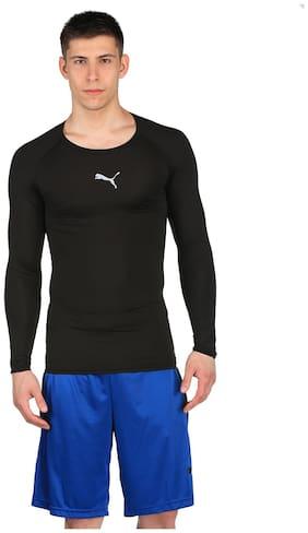 Puma Men U Neck Sports T-Shirt - Black