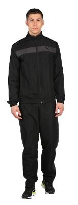 Puma Men Cotton Blend Track Suit - Black