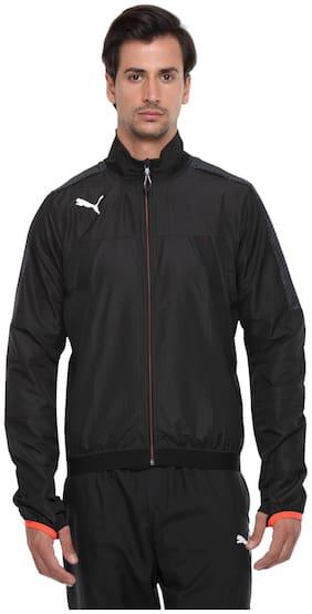 Men Polyester Blend Long Sleeves Sports Jacket