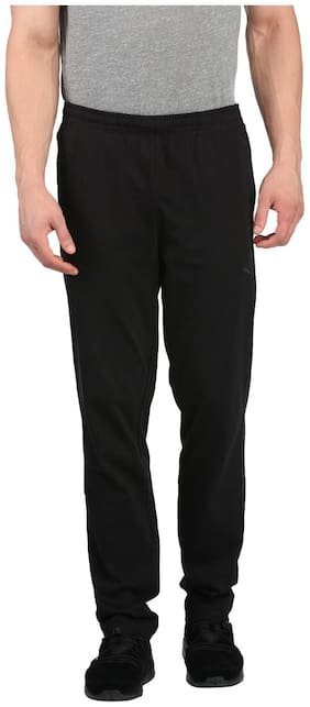 Puma Men Cotton Track Pants - Black