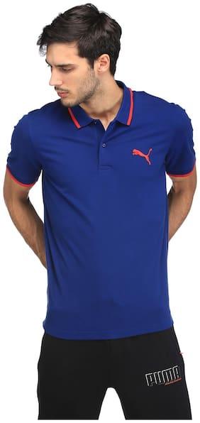 Puma Blue Men Regular T-Shirts