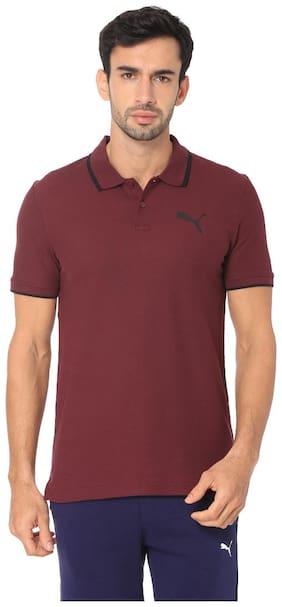 Men Polo Neck Printed T-Shirt