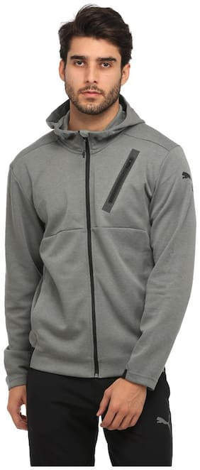 Puma Grey Polyester Jacket