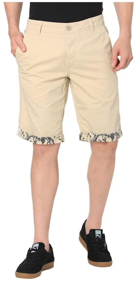 Puma Men Beige Cotton Shorts