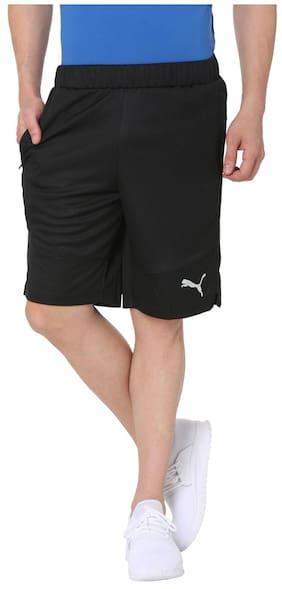 Puma Men Black Polyester Shorts