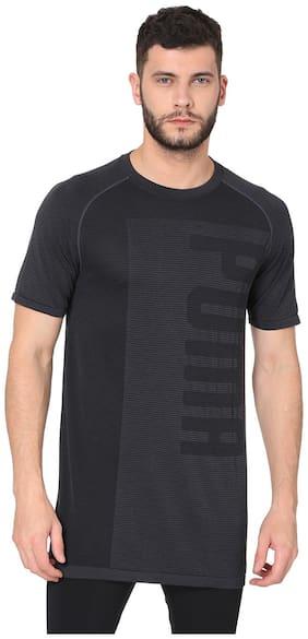 Puma Men Round Neck Sports T-Shirt - Black
