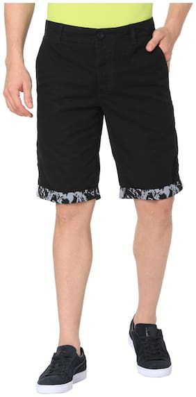 Puma Men Black Cotton Shorts