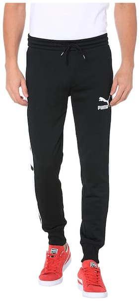Puma Men Polyester Blend Track Pants - Black