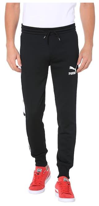 44064d2e37 Buy Puma Men Polyester Blend Track Pants - Black Online at Low ...
