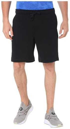 Puma Men Cotton Shorts - Black