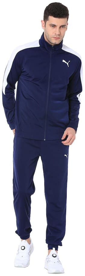Regular Fit Polyester Blend Track Suit Pack Of 1